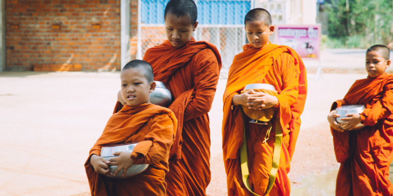 Monks in Battambang